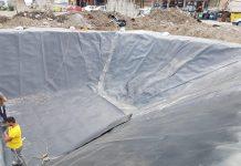 Impermeabilizare bazin retentie la ECO BURN Brazi - lucrare CON- CYN GEO-CONSTRUCT