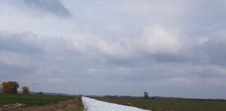 Impermeabilizare canal irigații în Balta Ialomitei CON-CYN GEO CONSTRUCT